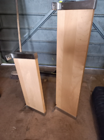 Pair of IKEA Wall Shelves With Metal Brackets