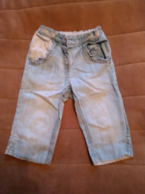 NEXT Girls Blue Summer Trousers 2-3 Years