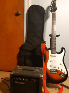 Silvertone electric guitar and amp