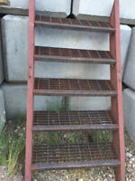 REDUCED to $100.00 - -Metal Exterior Stairs with railings