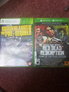 Borderlands the pre sequel & Sealed Red Dead Redemption