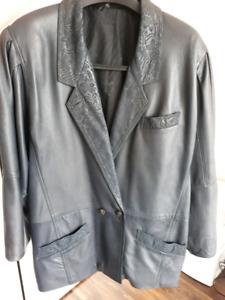 European leather jacket