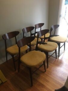 MCM Teak Dining Table & 6 Chairs - $575 OBO