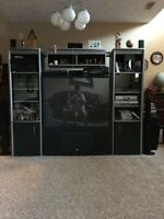 Tv and cabinet