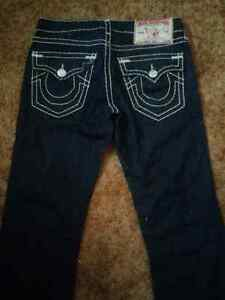 True Religion Hard Stitching Jeans