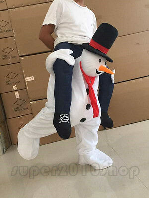 Parade Costumes Snowman Mascot Suits Adult party Ride On suit Xmas Dress Outfits - Party On Costumes