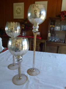 STYLIST CANDLE HOLDERS AND BALL CANDLES