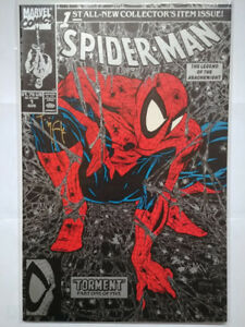 Spider-man #1  (1990) Todd McFarlane Autographed Variant Cover