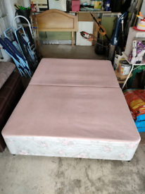 Divan double bed base. Free for uplift.