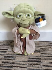 Yoda from star wars soft toy