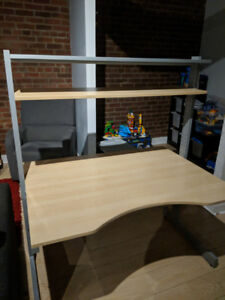 Ikea Jerker Desk with 2 shelves