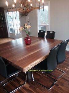table à diner en bois fabriquer sur mesure West Island Greater Montréal image 2