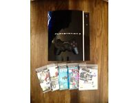 PLAYSTATION 3 with 5 Games + Controller