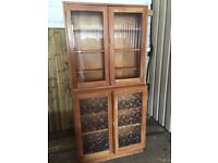 Solid Pine Dresser Bookcase Cupboard - FREE DELIVERY