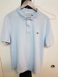 LACOSTE MENS POLOS AND V-NECK size 6 (xl)