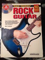 Learn rock guitar book + CD