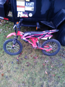 Motocross style bicycle