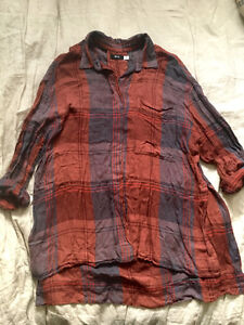 Brand New Women's Urban Outfitters BDG Plaid Shirt - Size Large