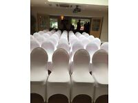 Chair Covers, sash, table cloth hire, center pieces