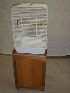 Base pour cage a oiseau