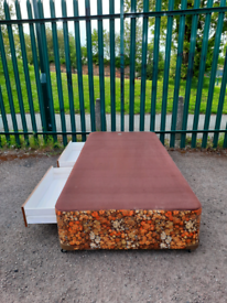 Single bed base with drawers (delivery available