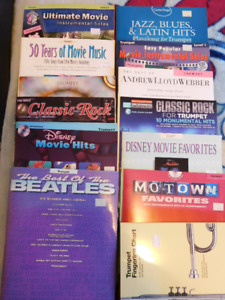 12 Trumpet books most w backing track CD's