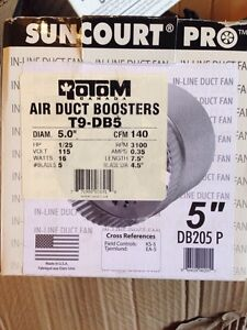 """Air duct boosters 5"""""""