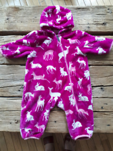 Hatley 12-18m carseat safe fleece snowsuit