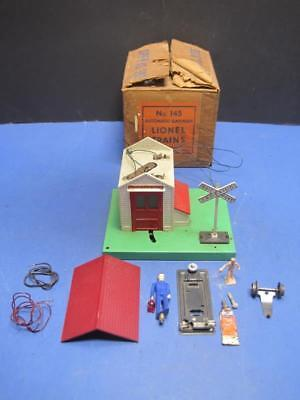 Vintage Lionel Trains No 145 Automatic Gateman With Original Box As Is Untested