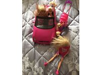 Barbie Car, 3 dolls,2 dogs and stroller