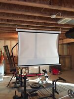 projector and 90 inch 3D screen