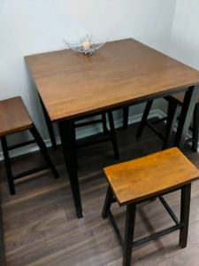 Brand New Pub Style Table and Stools