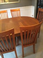 IKEA table with six chairs