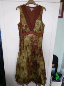Noli size 10 green and brown dress