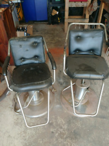 Two Hydraulic barber chairs