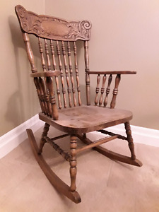 Antique pressback Rocking chair