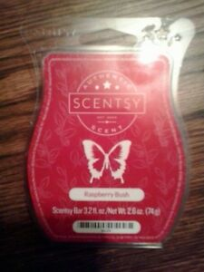 Scentsy's Raspberry Bush - 6 cubes remain in clamshell