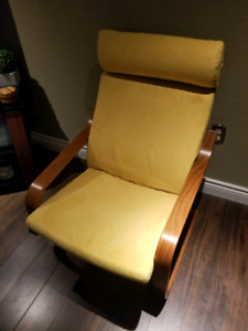 Ikea Poang chair - yellow suede - great condition