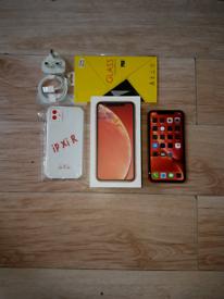 Iphone XR Bundle Unlocked 64GB Coral I Phone X R Ten