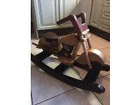 Wooden Motorcycle Rocking Horse (RRP £200)