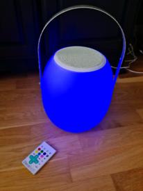 Decotech Bluetooth speaker light with remote