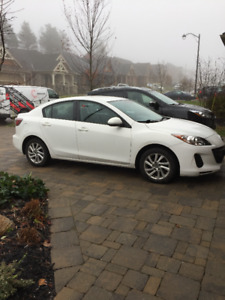 2013 Mazda 3 Sedan & 4 snows on rims - Short-term lease takeover
