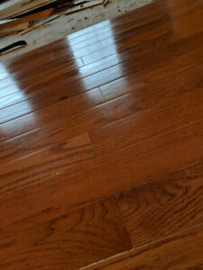 Red oak solid hardwood floors, used, tongues and grooves intact
