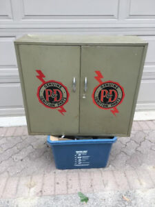 Vintage Automotive Metal Utility Cabinet for sale