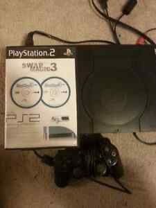 Playstation 2 with Swap Magic discs to play backup and flip top Kitchener / Waterloo Kitchener Area image 2