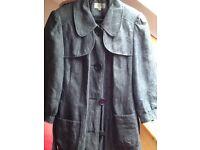 M&S denim blue coat size 14