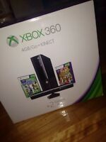 BRAND NEW XBOX 360 WITH KINECT AND 2 GAMES INCLUDED