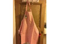 New gingham apron