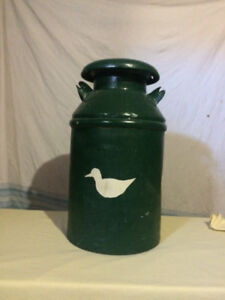 Antique milk can (solid; no rust)