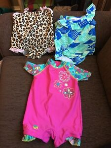 3 GIRLS 18 month bathing suits